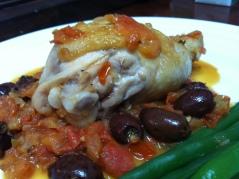 Chicken Marengo with Olives