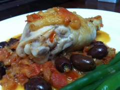 Chicken Marengo with Olives