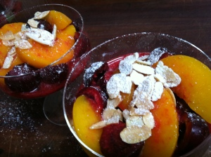 Cherry fruit salad with Languedoc brandy