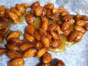 Caramelised almonds...desperately seeking ice cream.