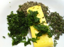 makings of a tasty herb butter...
