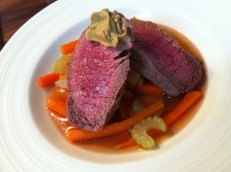 Poached Beef with Spring Vegetables